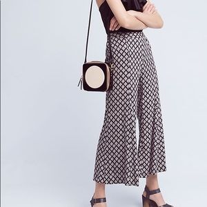 Anthropologie Black and White Wide Leg Pants